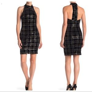 Alexia Admor Velvet Sequin Check Sheath Dress
